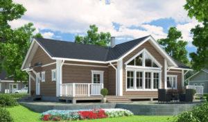 Строительство загородных домов в СПб и лен. области под ключ в финском стиле проекты фото