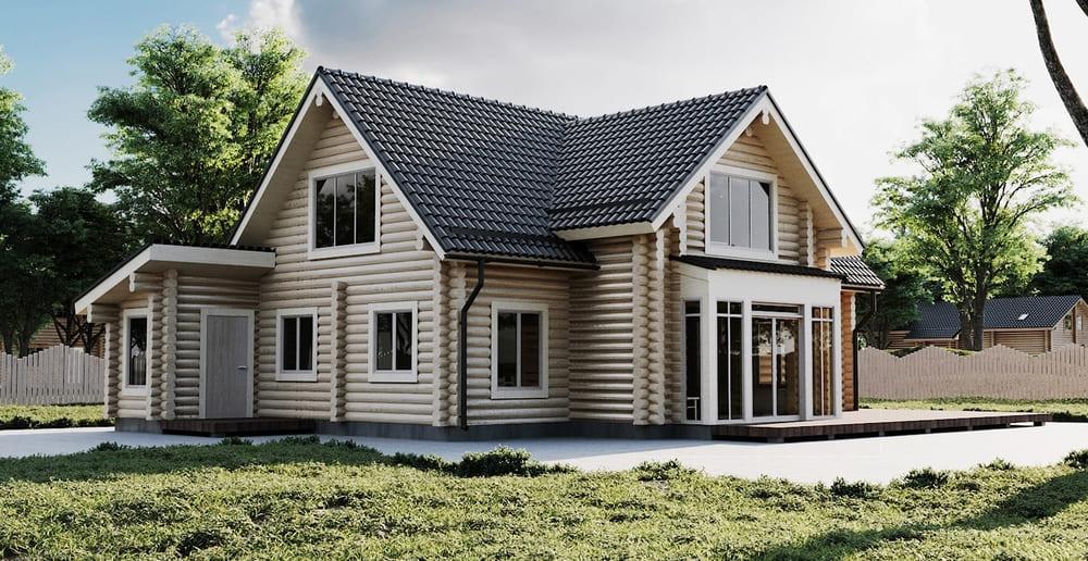 Строительство загородных домов в СПб и лен. области под ключ из бревна
