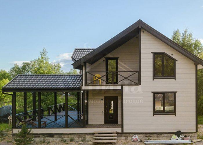 Каркасный дом, проекты, цены, строительство каркасника с мансардой под ключ